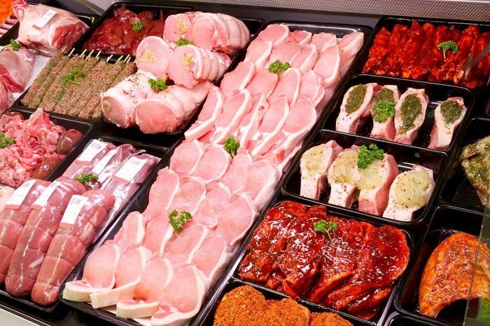 Витрина мясного магазина