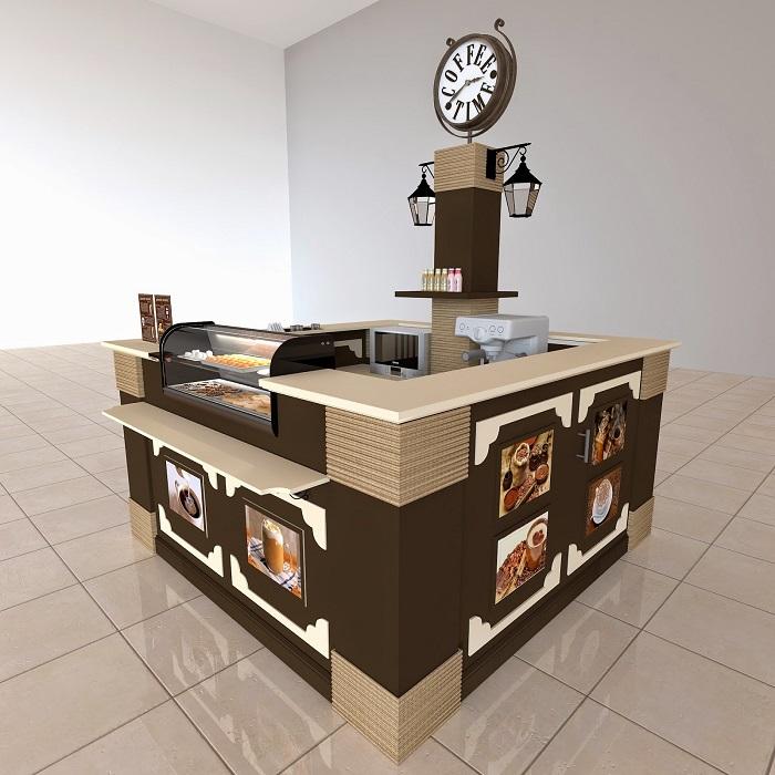 Проект прилавка с кофе на вынос