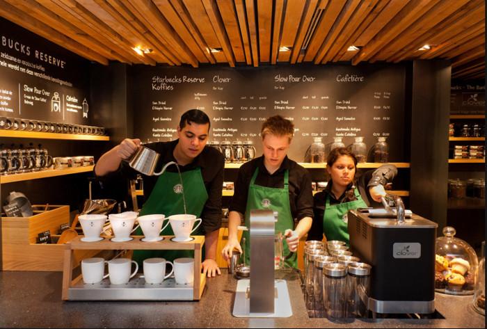 Работники кофейни