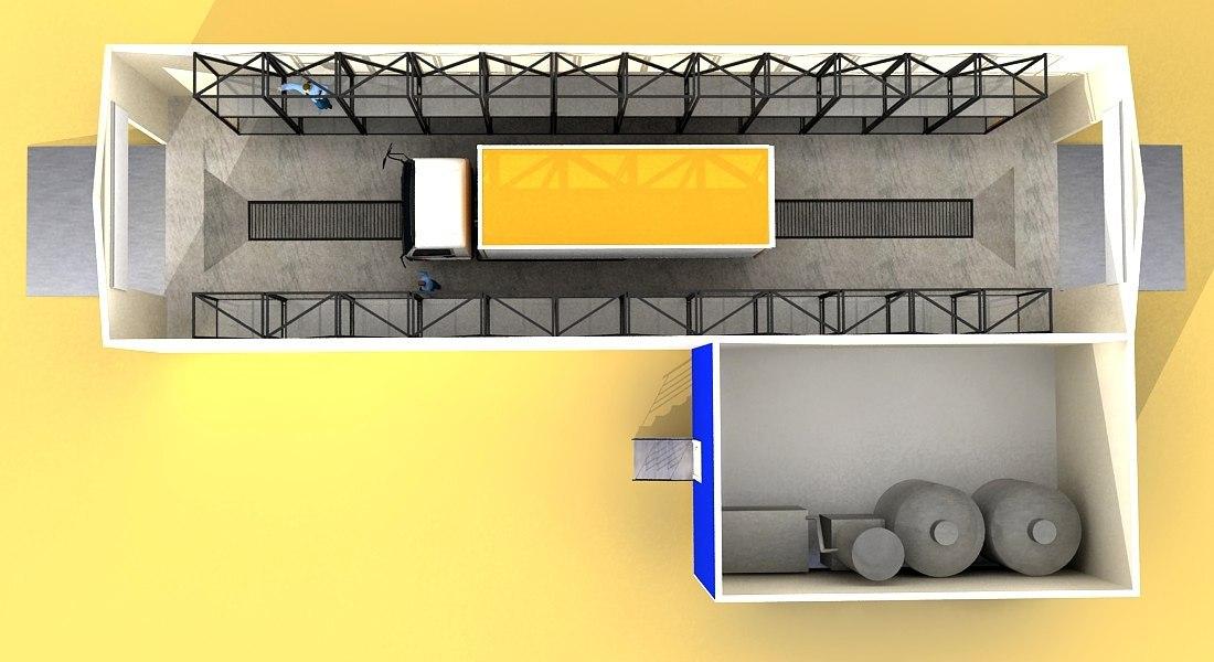 Как на бумаге выклядит план автомойки для грузовых машин?
