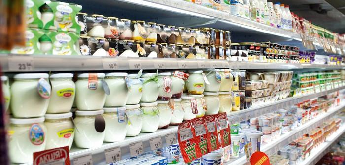 Торговый прилавок продуктового магазина