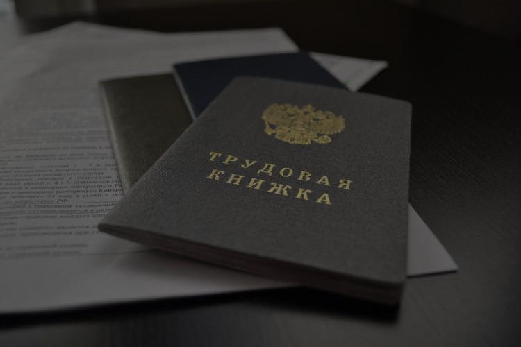 Трудовая книжка РФ.