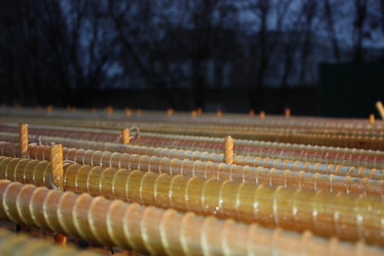 производство стеклопластиковой арматуры.
