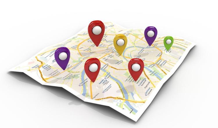 Обособленные подразделения на карте.