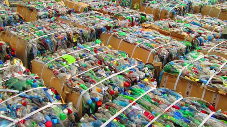 Прессованные пластиковые отходы