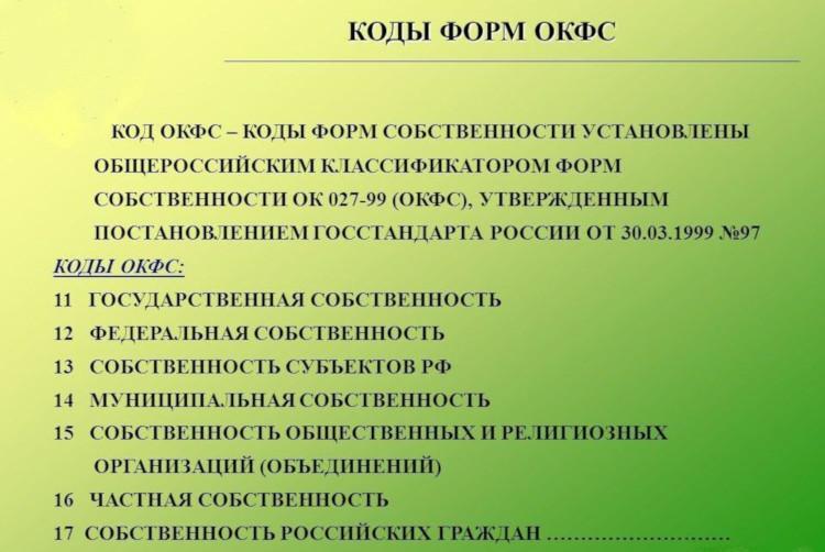 Окфс 16 расшифровка