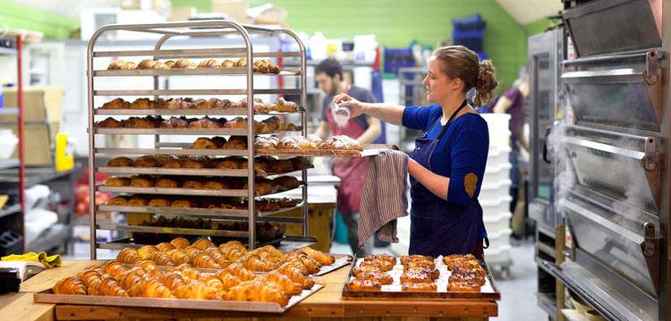 Работа пекарни круассаны