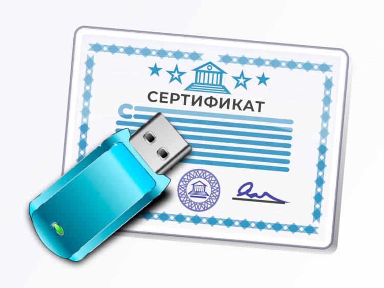 Сертификат и носитель цифровой подписи