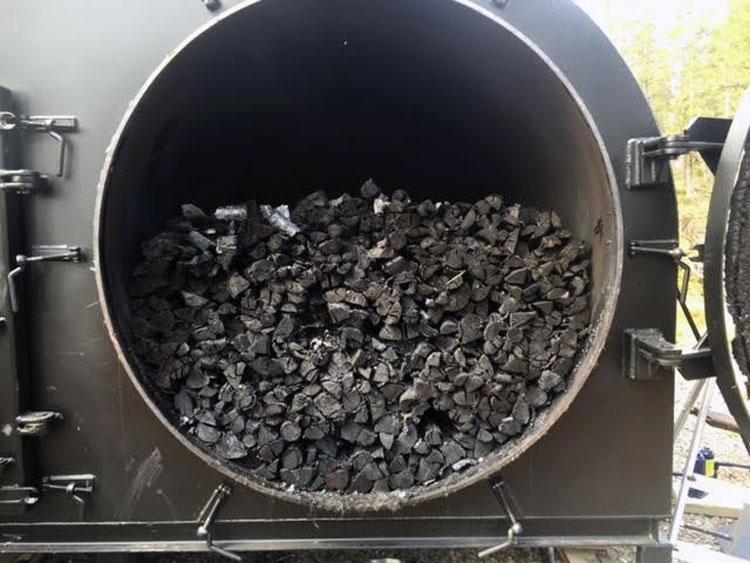 Производство древесного угля дома