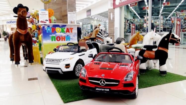 Прокат детских электромобилей в ТЦ