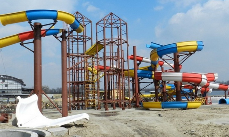 Этапы строительства аквапарка