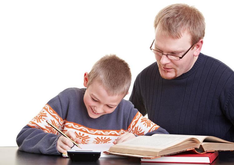 Репетитор занимается с учеником