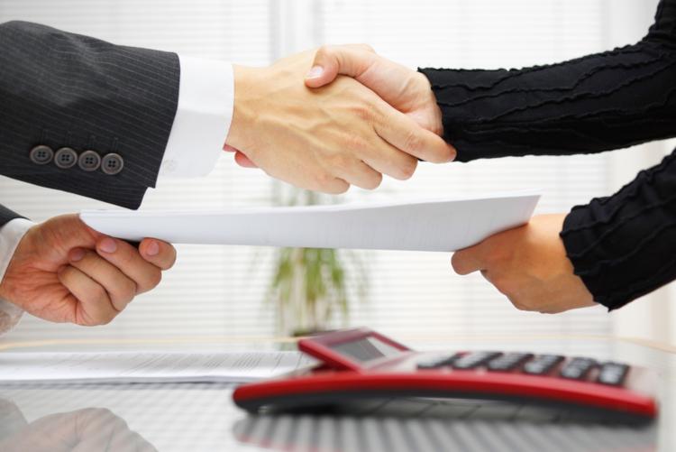 Подписание договора аренды