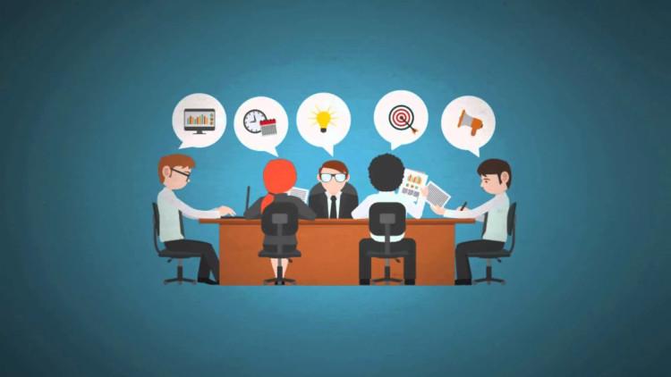 Коллеги за обсуждением проекта