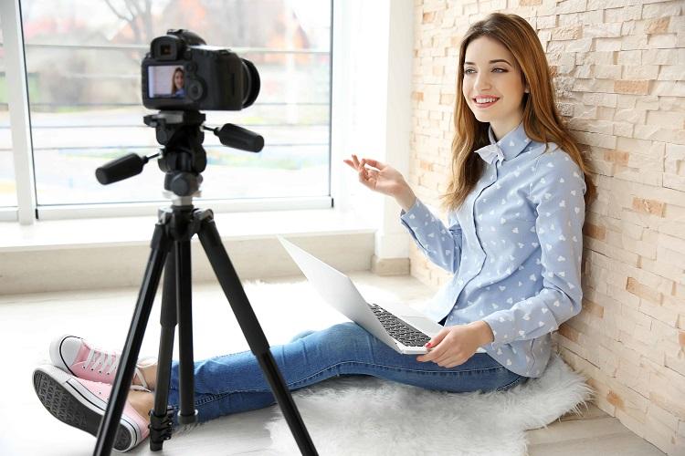Работа видеоблоггера